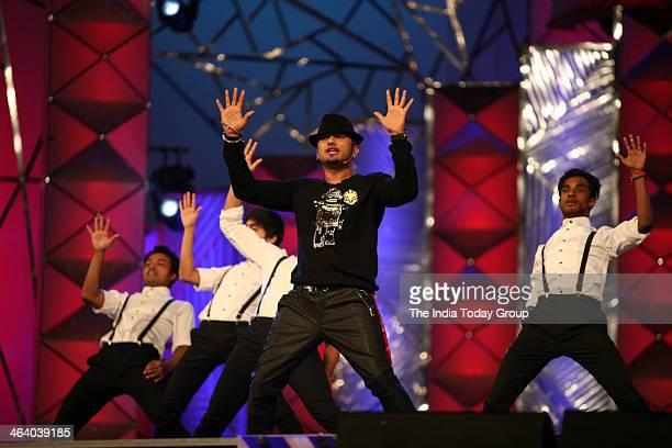 Honey Singh during the Mumbai police show Umang 2014 in Mumbai