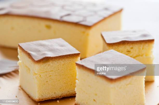 honey sponge cake - sponge cake stock pictures, royalty-free photos & images