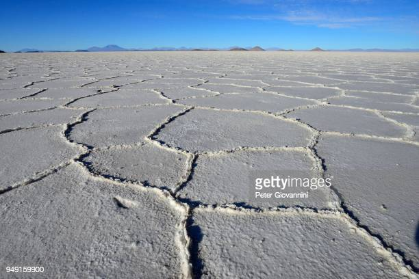 Honeycomb structure on the salt lake, Salar de Uyuni, Uyuni, Potosi, Bolivia