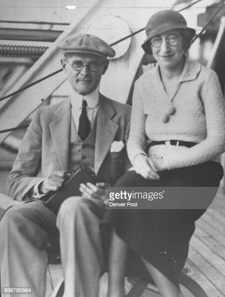 Honeymooners are Mr and Mrs Joseph Langer of Denver shown here as they reached New York recently after an eighteenday cruise of the West Indies For...