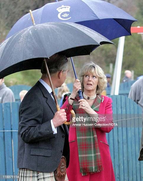 Honeymooning royal couple HRH Prince of Wales and Duchess of Rothesay take time out from their honeymoon at Birkhall on the Queen's Aberdeenshire...