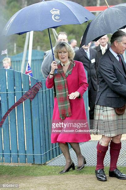 Honeymooning royal couple TRH Prince of Wales and Duchess of Rothesay take time out from their honeymoon at Birkhall on the Queen's Aberdeenshire...