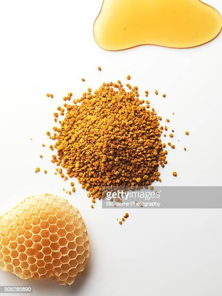 Honey,pollen,honeycomb