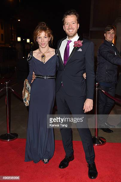 Honeysuckle Weeks and Jez Bond attend the Park Theatre Annual Gala Dinner at Stoke Newington Town Hall on November 12 2015 in London England