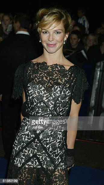 Honeysuckle Weeks arrives at the 10th Anniversary National Television Awards at the Royal Albert Hall on October 26 2004 in London The starstudded...