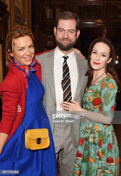 Honeysuckle Weeks director Simon Evans and Emma CampbellJones attend the press night after party for The Best Man at The Royal Horseguards Hotel on...