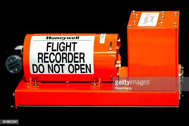 Honeywell International Inc commercial aircraft cockpit data recorder or 'black box' is arranged for a photo in Washington DC US on Friday June 5...