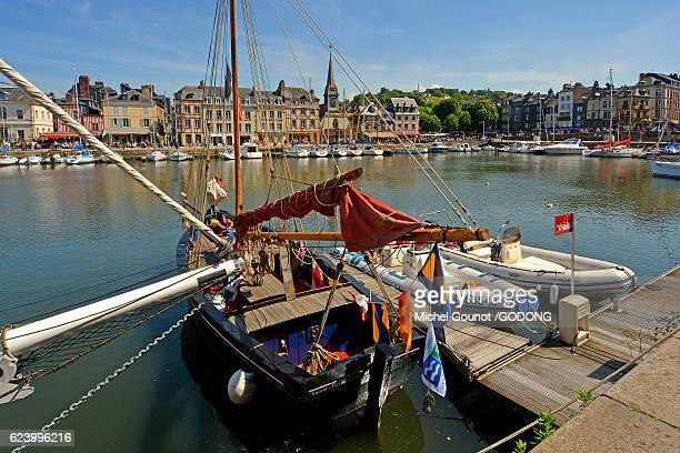 Honfleur and its picturesque harbour, Old Basin and the Quai Sainte Catherine, Calvados, France