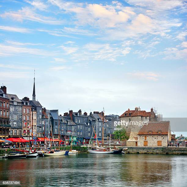 honfleur harbor, france - normandy stock pictures, royalty-free photos & images