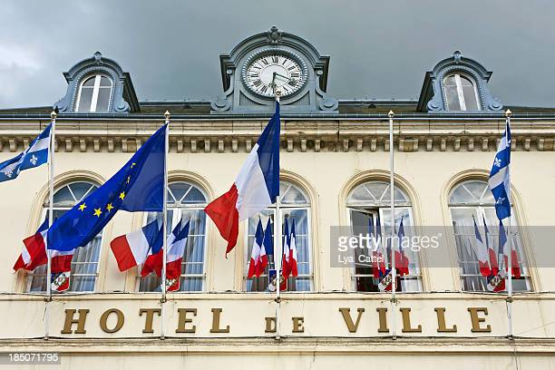 honfleur - town hall stock pictures, royalty-free photos & images