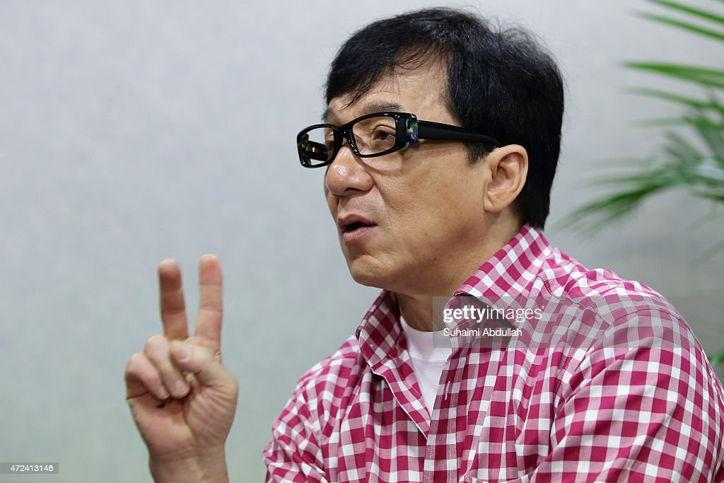 Hong actor and director, Jackie Chan speaks to the media prior to the launch of a new mobile anti-drug game application, Aversion at Nanyang Polytechnic on May 7, 2015 in Singapore. Jackie Chan was named SingaporeÕs first celebrity anti-drug ambassador.