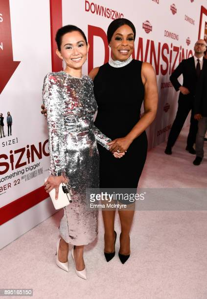 Hong Chau and Niecy Nash attend the premiere of Paramount Pictures' 'Downsizing' at Regency Village Theatre on December 18 2017 in Westwood California