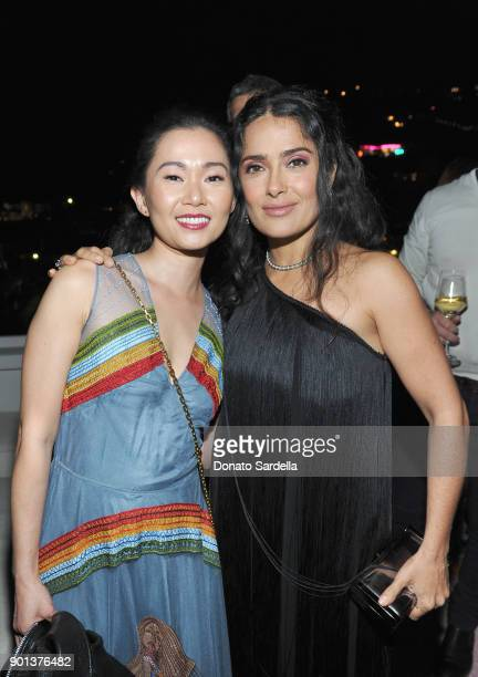 Hong Chau and Salma Hayek attend W Magazine's Celebration of its 'Best Performances' Portfolio and the Golden Globes with Audi Dior and Dom Perignon...