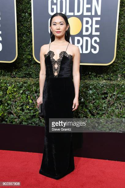 Hong Chau attends The 75th Annual Golden Globe Awards at The Beverly Hilton Hotel on January 7 2018 in Beverly Hills California