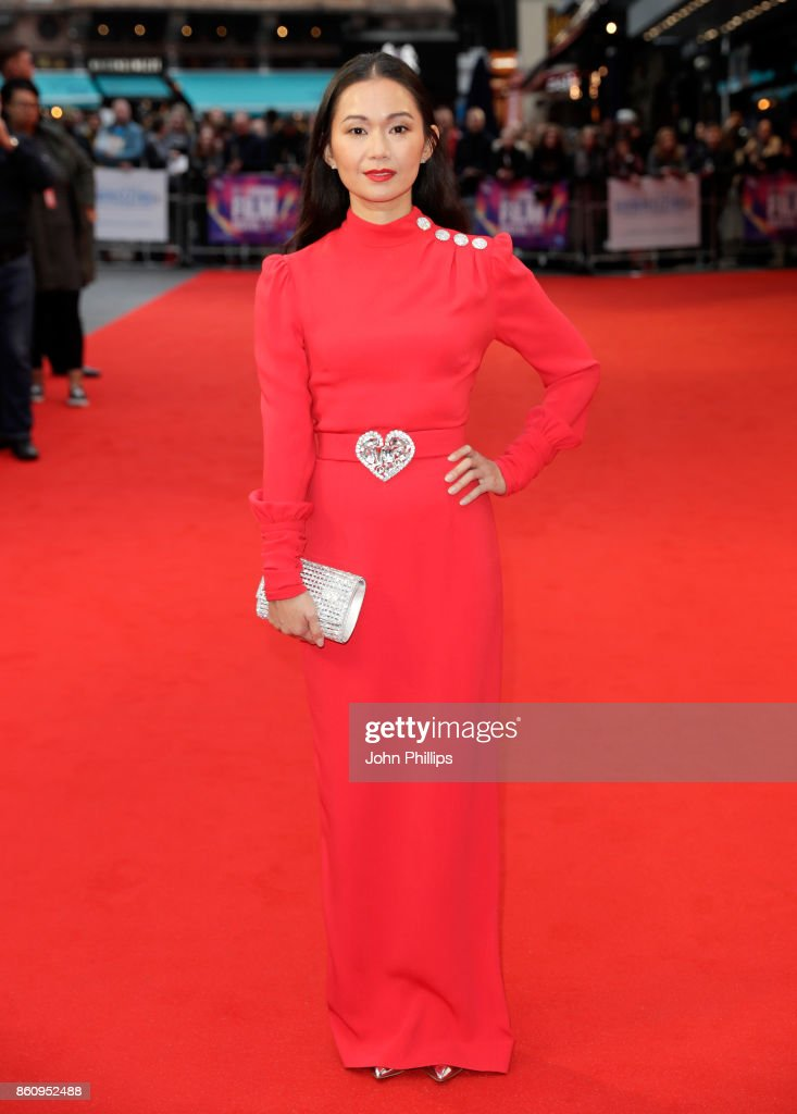 Hong Chau attends the BFI Patron's Gala and UK Premiere of 'Downsizing' during the 61st BFI London Film Festival at the Odeon Leicester Square on October 13, 2017 in London, England.