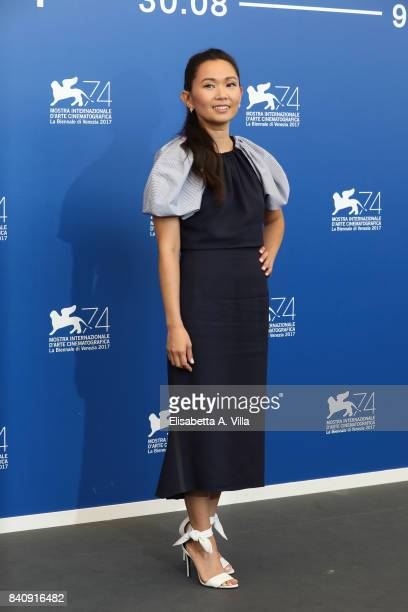 Hong Chau attends the official Press Conference and photo call for 'Downsizing' during the 74th Venice Film Festival at Sala Casino on August 30 2017...