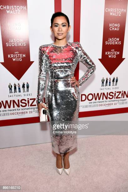 Hong Chau attends the premiere of Paramount Pictures' 'Downsizing' at Regency Village Theatre on December 18 2017 in Westwood California