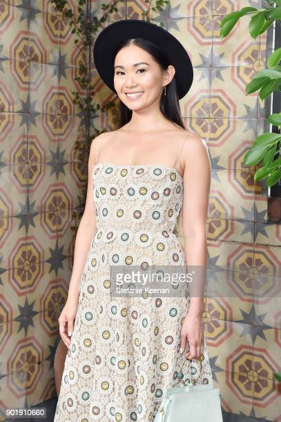Hong Chau wearing Dior attends Lynn Hirschberg Celebrates W Magazine's It Girls With Dior at AOC on January 6 2018 in Los Angeles California