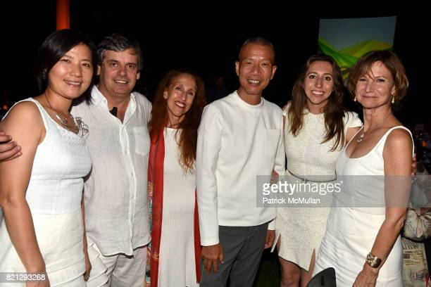 Hong Hong Wu Matko Tomicic Prudence Fairweather Cai GuoQiang Alexandra Fairweather and Toni Ross attend Boom The Cosmic LongHouse Benefit at...
