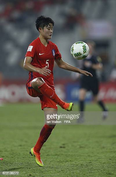 Hong Hyeji of Korea Republic in action during the FIFA U20 Women's World Cup Group D match between Mexico and Korea Republic at National Football...