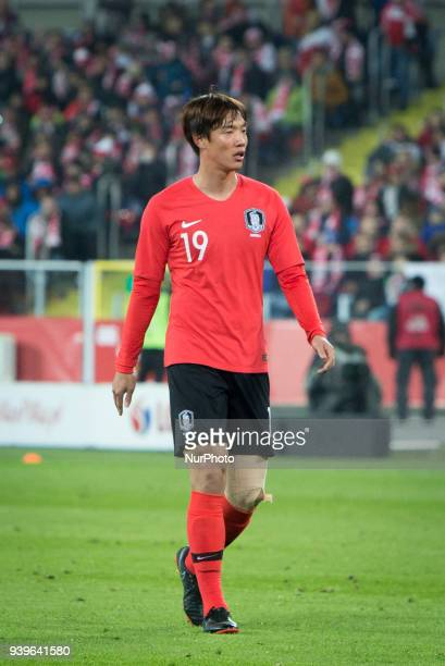 Hong Jeongho during the international friendly soccer match between Poland and South Korea national football teams at the Silesian Stadium in Chorzow...