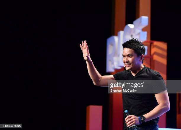 Hong Kong - 9 July 2019; Min-Liang Tan, Co-founder & CEO, Razer, on Centre Stage during day one of RISE 2019 at the Hong Kong Convention and...