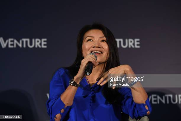 KONG Hong Kong 9 July 2019 Nina Zhou Head of PIA North Asia Swiss Re on Venture Stage during day one of RISE 2019 at the Hong Kong Convention and...