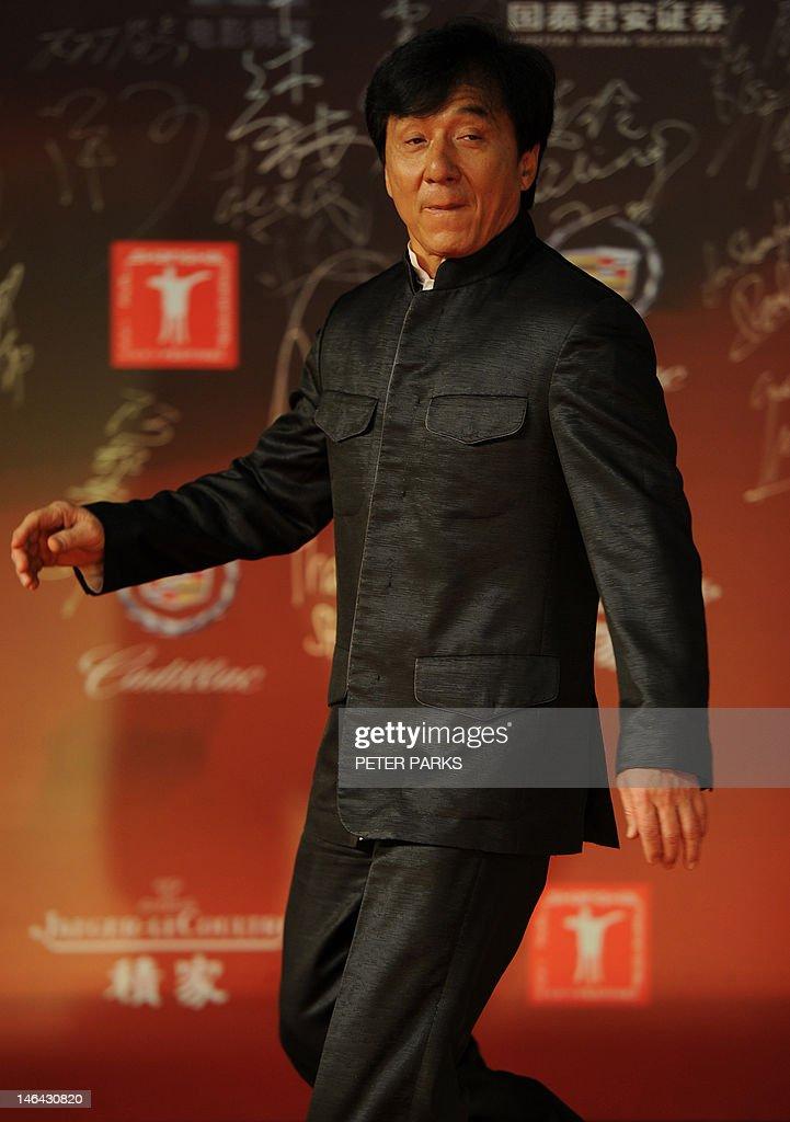 Hong Kong action movie star Jackie Chan  : News Photo