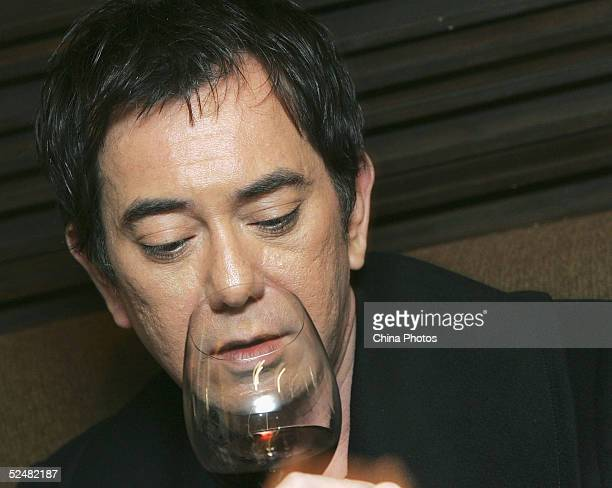 Hong Kong actor Anthony Wong attends a news conference to promote movie Two Young on March 26 2005 in Hong Kong China
