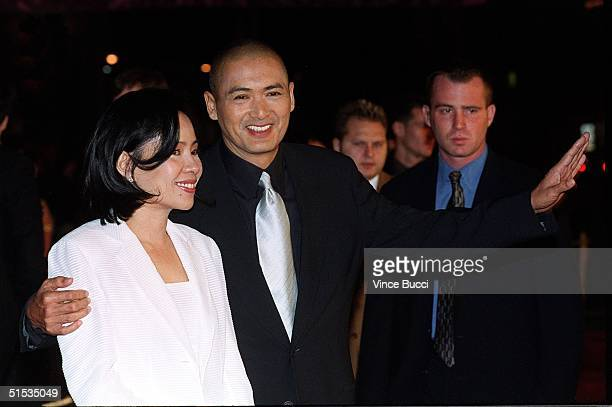 Hong Kong actor Chow YunFat arrives with his wife Jasmine for the world premiere of his new film Anna and the King 15 December 1999 in Hollywood CA...