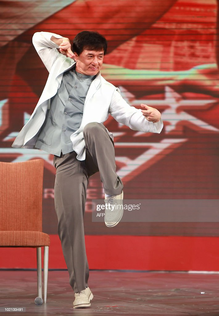 Hong Kong actor Jackie Chan attends the premiere of 'The Karate Kid' in Beijing on June 16, 2010. The remake of the 1984 hit 'The Karate Kid' will open in cinemas throughout the US on June 11, and filmgoers in China will be able to view the film on June 22.