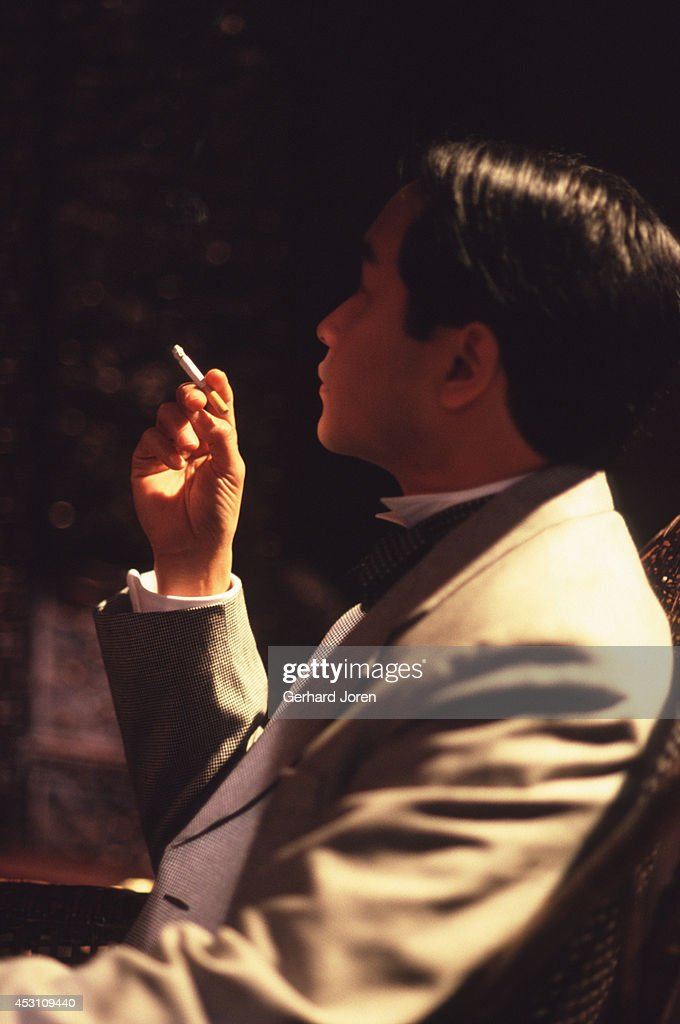 Hong Kong actor Leslie Cheung Kwok Wing during the filming... : News Photo