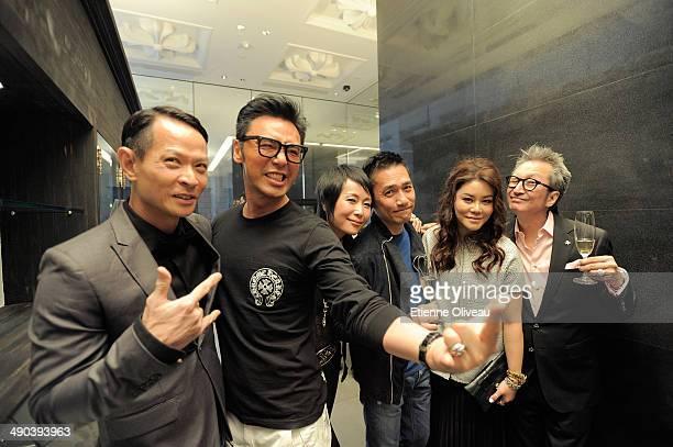 Hong kong actor Ng Yuk Sau, Hong Kong musician Kenny Bee, Hong Kong actress Cecilia Lee, Hong Kong international actor Tony Leung, a guest and Chrome...