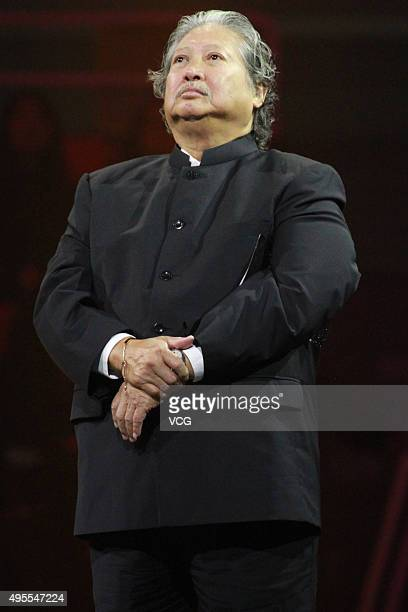 Hong Kong actor Sammo Hung attends the awards ceremony of 2015 Asian Influence Award Oriental Ceremony at Beijing Workers' Gymnasium on November 3,...