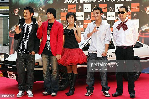Hong Kong actor Shawn Yue Taiwanese actor and singer Jay Chou Japanese actress Anne Suzuki Hong Kong actor Edison Chen and actor Anthony Wong attend...