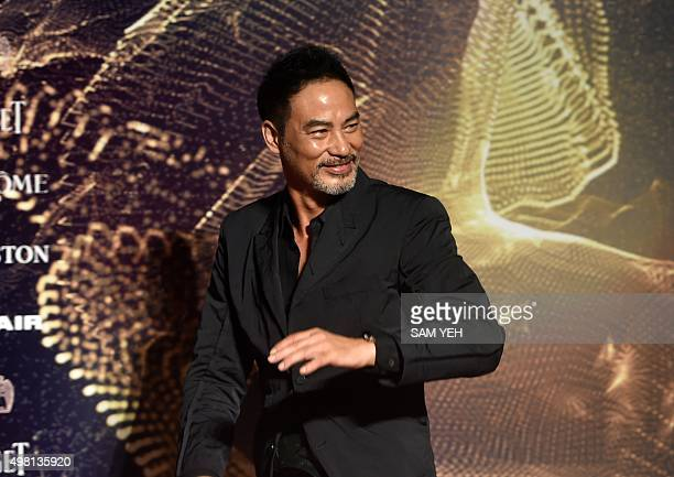 Hong Kong actor Simon Yam arrives for the 52nd Golden Horse Film Awards in Taipei on November 21 2015 Some of the biggest stars in Asian cinema will...