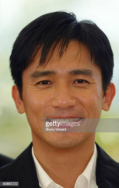 Hong Kong actor Tony Leung attends 2046 photocall at Le Palais de Festival at the 57th Cannes Film Festival on May 21 2004 in Cannes France