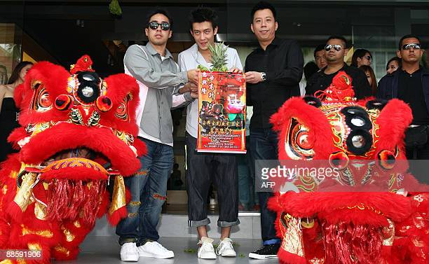 Hong Kong actorsinger Edison Chen launches a Juice store along with the coowner Kevin Poor and local franchise owner Edwin Choong in Kuala Lumpur on...