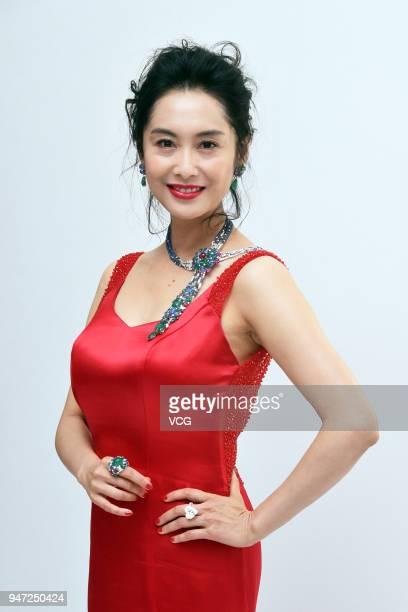Hong Kong actress Athena Chu attends Resonances de Cartier event on April 16 2018 in Taipei Taiwan