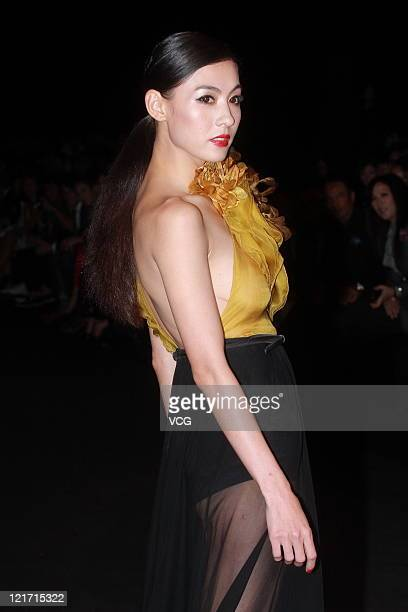 Hong Kong actress Cecilia Cheung attends a commercial event of GUCCI on August 19 2011 in Hong Kong China