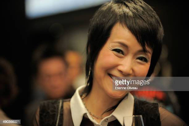 Hong Kong actress Cecilia Lee smiling during the Chrome Hearts Beijing Store Opening on May 14 2014 in Beijing China