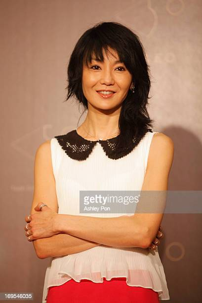 Hong Kong actress Maggie Cheung attends the Golden Horse Film Festival Press Conference as the festival advocate to celebrate the 50th anniversary of...