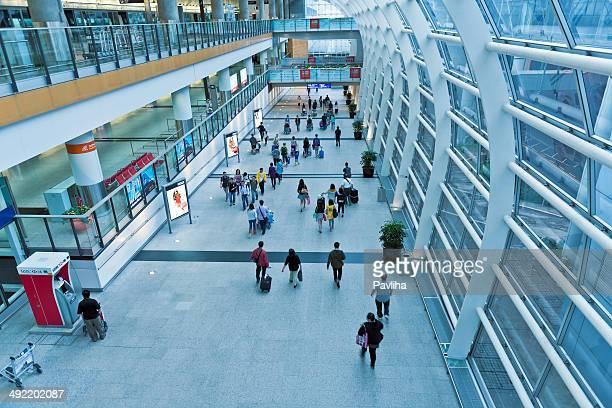 hong kong airport, china asia - hong kong international airport stock photos and pictures