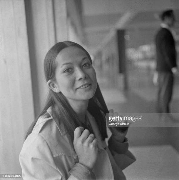 Hong Kong American actress Nancy Kwan at Heathrow Airport London UK 27th April 1965