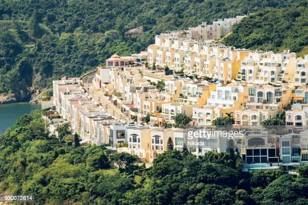 Hong Kong Mehrfamilienhäuser in der Natur