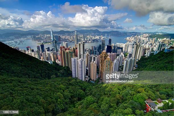 Hong Kong as seen from Victoria peak