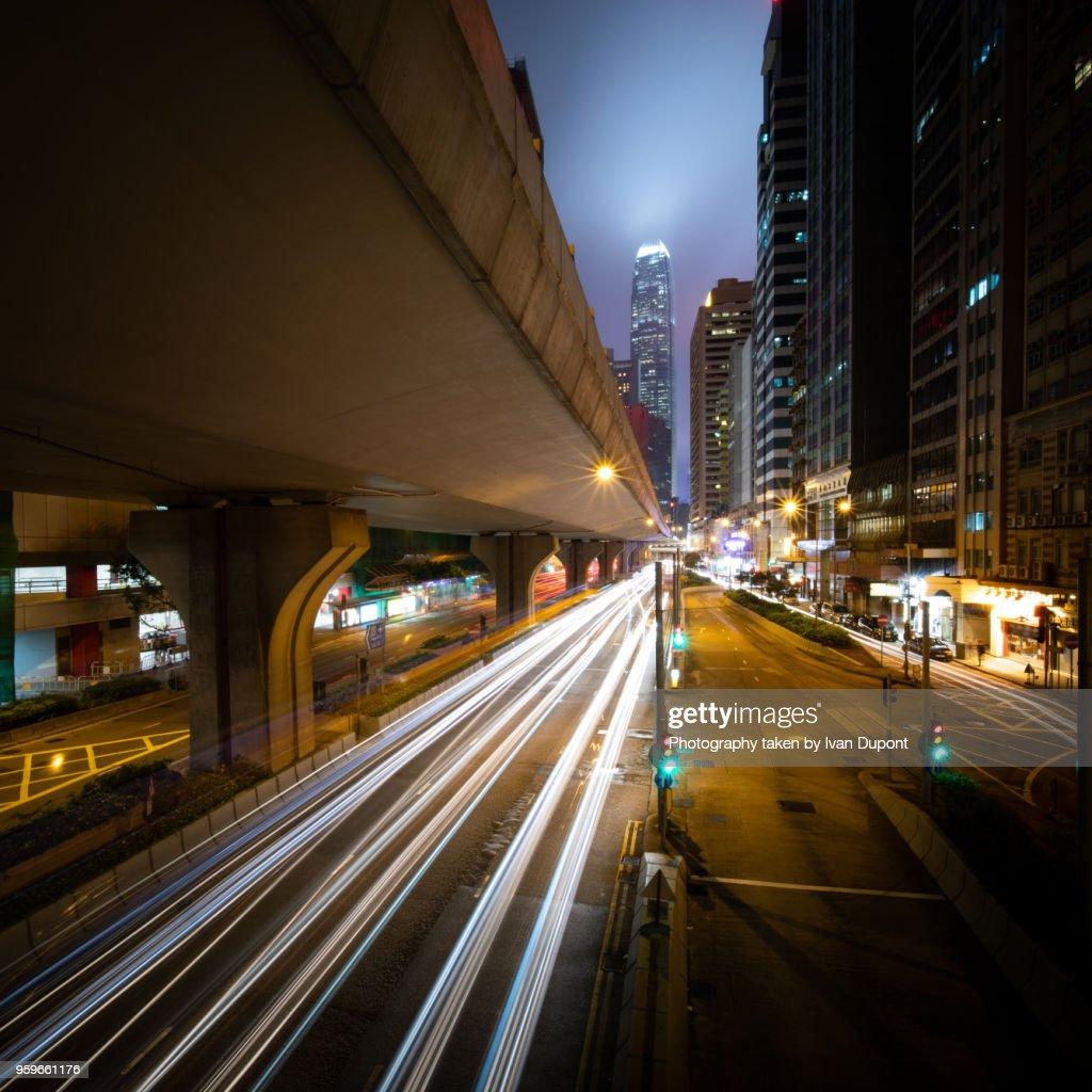 Hong Kong at dusk : Stock-Foto