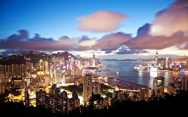 Hong Kong At Night Wall Art