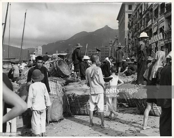 Typical Chinese waterfront scene Undated photograph