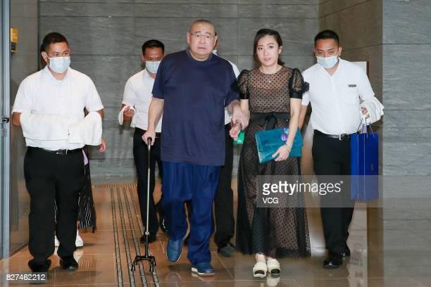 Hong Kong billionaire Joseph Lau Luen Hung and his wife Chan Hoiwan attend Hong Kong billionaire Peter Lam Kinngok's 60th birthday party on August 7...